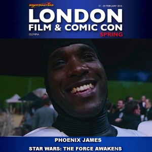 Phoenix James - Star Wars - Autograph Signing - Showmasters - London Film & Comic Con - Olympia