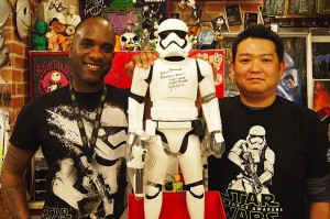 Phoenix James - Star Wars Episode 7 8 9 VII VIII IX - First Order Stomtrooper Actor at Bandit-Selected Toys store for an Autograph Signing - Tokyo Japan