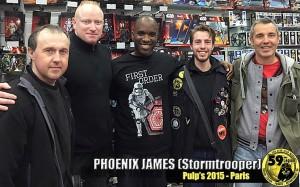 Phoenix James - Star Wars First Order Stormtrooper Actors at Pulps Toys in Paris Episode 7 8 9 VII VIII IX