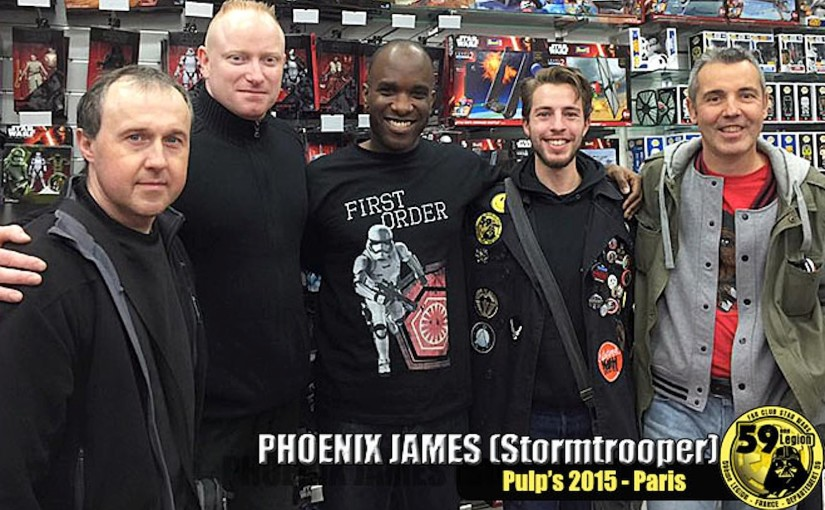 Phoenix James at the Star Wars dedicated Pulp's Toys store in Paris
