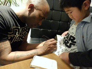Phoenix James - Star Wars - First Order Stormtrooper Actor – Autograph Signing and Photo Session Tour - Tokyo, Japan 4 Episode 7 8 9 VII VIII IX
