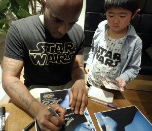 Phoenix James - Star Wars - First Order Stormtrooper Actor – Autograph Signing and Photo Session Tour - Tokyo, Japan 5 Episode 7 8 9 VII VIII IX
