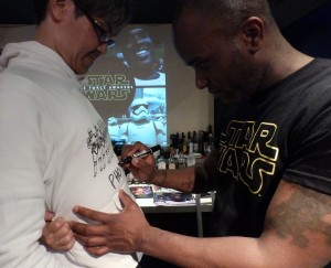 Phoenix James - Star Wars - First Order Stormtrooper Actor – Autograph Signing and Photo Session Tour - Tokyo, Japan 78 Episode 7 8 9 VII VIII IX