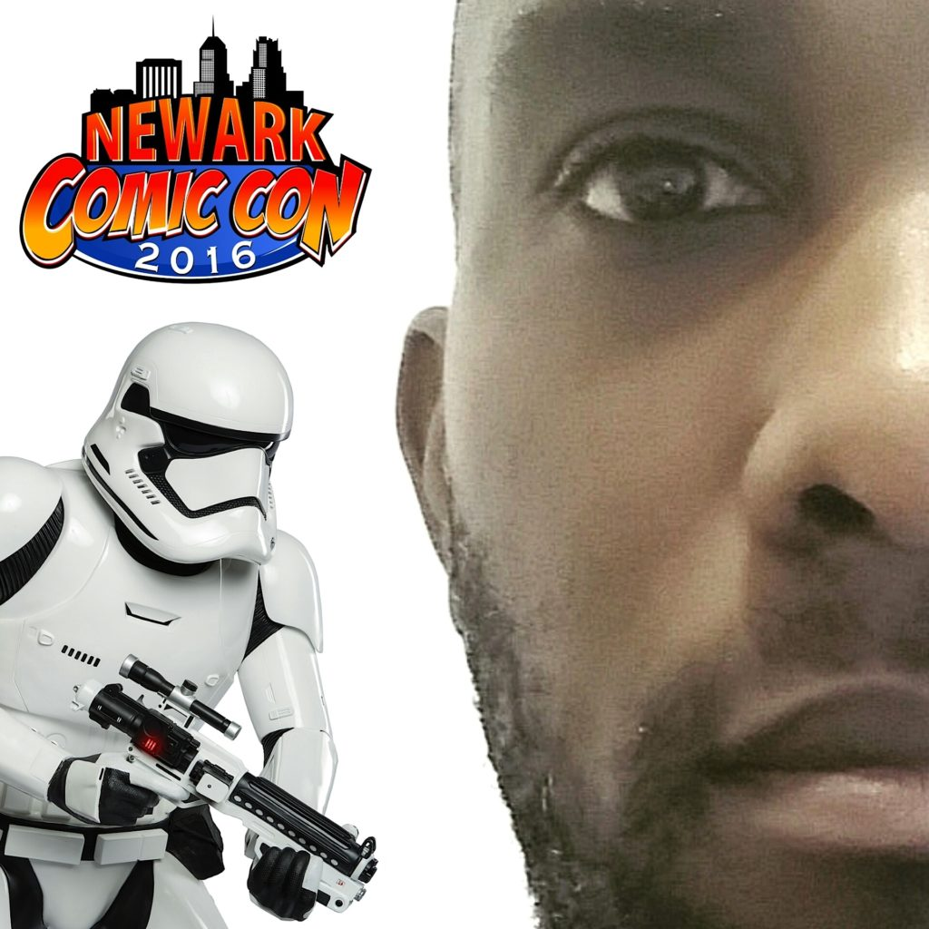 Phoenix James - Star Wars First Order Stormtrooper Actor - Guest Appearing - Newark Comic Con - New Jersey - USA