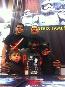 Phoenix James - Star Wars - First Order Stormtrooper Actor in Mexico City at La Mole Comic Con 13
