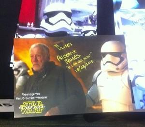 Phoenix James - Star Wars - First Order Stormtrooper Actor in Mexico City at La Mole Comic Con 15