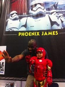 Phoenix James - Star Wars - First Order Stormtrooper Actor in Mexico City at La Mole Comic Con 2