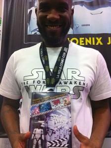 Phoenix James - Star Wars Episode 7 8 9 VII VIII IX - First Order Stormtrooper Actor in Mexico City at La Mole Comic Con