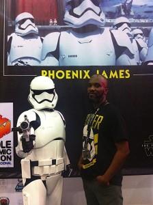 Phoenix James - Star Wars - First Order Stormtrooper Actor in Mexico City at La Mole Comic Con 3