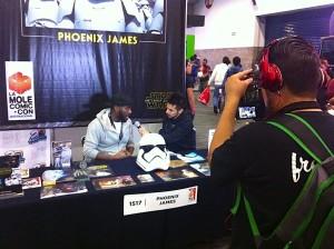 Phoenix James - Star Wars - First Order Stormtrooper Actor in Mexico City at La Mole Comic Con 4