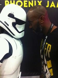 Phoenix James - Star Wars Episode 7 8 9 VII VIII IX - First Order Stormtrooper Actor in Mexico City at La Mole Comic Con 5