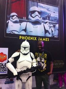 Phoenix James - Star Wars - First Order Stormtrooper Actor in Mexico City at La Mole Comic Con 6