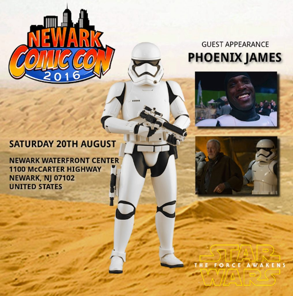 Phoenix James Star Wars First Order Stormtrooper Actor Newark Comic Convention New Jersey United States