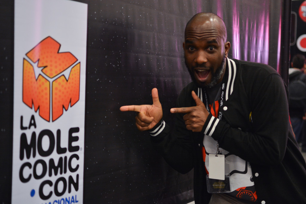 Phoenix James - Star Wars First Order Stromtrooper Actor at La Mole Comic Con in Mexico - Photo by Marianne Perez Mooren 0