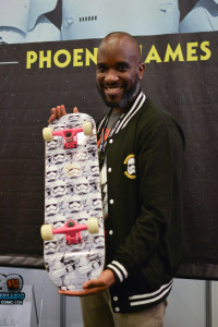 Phoenix James - Star Wars First Order Stromtrooper Actor at La Mole Comic Con in Mexico - Photo by Marianne Perez Mooren 1