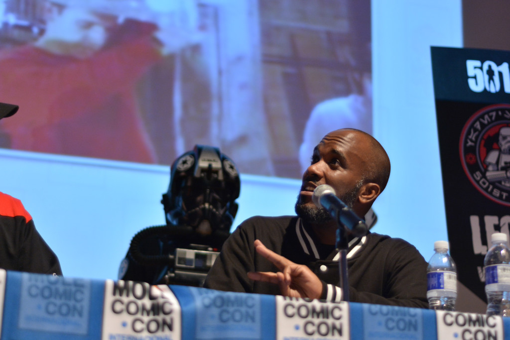 Phoenix James - Star Wars First Order Stromtrooper Actor at La Mole Comic Con in Mexico - Photo by Marianne Perez Mooren 12
