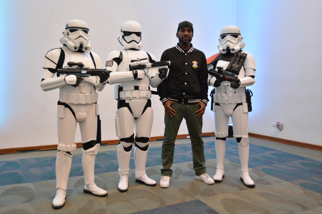 Phoenix James - Star Wars First Order Stromtrooper Actor at La Mole Comic Con in Mexico - Photo by Marianne Perez Mooren 23