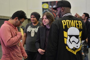 Phoenix James - Star Wars First Order Stromtrooper Actor at La Mole Comic Con in Mexico - Photo by Marianne Perez Mooren 37
