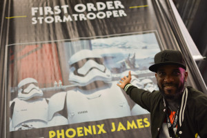 Phoenix James - Star Wars First Order Stromtrooper Actor at La Mole Comic Con in Mexico - Photo by Marianne Perez Mooren 7