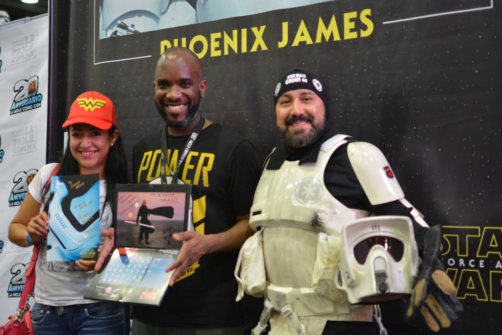 Phoenix James - Star Wars First Order Stromtrooper Actor at La Mole Comic Con in Mexico - Photo by Marianne Perez Mooren 9