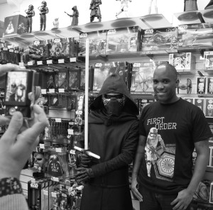 Phoenix James - Star Wars The Force Awakens First Order Stormtrooper Actors Autograph Signing and Photo Session at Pulp's Toys in Paris, France 0