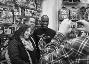 Phoenix James - Star Wars The Force Awakens First Order Stormtrooper Actors Autograph Signing and Photo Session at Pulp's Toys in Paris, France 1