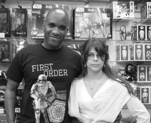 Phoenix James - Star Wars The Force Awakens First Order Stormtrooper Actor Autograph Signing and Photo Session at Pulp's Toys in Paris, France 3