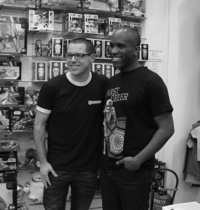 Phoenix James - Star Wars The Force Awakens First Order Stormtrooper Actor Autograph Signing and Photo Session at Pulp's Toys in Paris, France 6