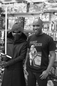 Phoenix James - Star Wars The Force Awakens First Order Stormtrooper Actor Autograph Signing and Photo Session at Pulp's Toys in Paris, France 8