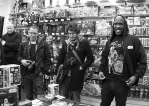 Phoenix James - Star Wars The Force Awakens First Order Stormtrooper Actor Autograph Signing at Pulp's Toys in Paris, France 0