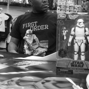 Phoenix James - Star Wars The Force Awakens First Order Stormtrooper Actor Autograph Signing at Pulp's Toys in Paris, France 14