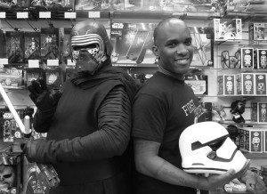 Phoenix James - Star Wars The Force Awakens First Order Stormtrooper Actors Autograph Signing at Pulp's Toys in Paris, France 15