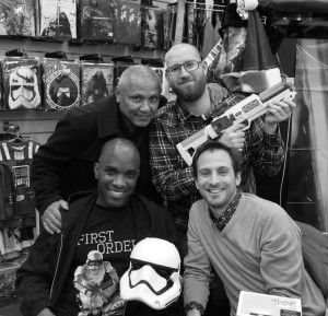 Phoenix James - Star Wars The Force Awakens First Order Stormtrooper Actor Autograph Signing at Pulp's Toys in Paris, France 17