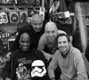 Phoenix James - Star Wars The Force Awakens First Order Stormtrooper Actor Autograph Signing at Pulp's Toys in Paris, France 18