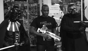 Phoenix James - Star Wars The Force Awakens First Order Stormtrooper Actors Autograph Signing at Pulp's Toys in Paris, France 19 Episode 7 8 9 VII VIII IX