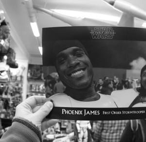 Phoenix James - Star Wars The Force Awakens First Order Stormtrooper Actors Autograph Signing at Pulp's Toys in Paris, France 4 Episode 7 8 9 VII VIII IX