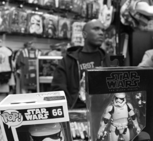 Phoenix James - Star Wars The Force Awakens First Order Stormtrooper Actor Autograph Signing at Pulp's Toys in Paris, France 7