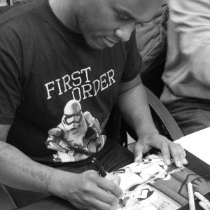 Phoenix James - Star Wars The Force Awakens First Order Stormtrooper Actors Autograph Signing in Paris France 0 Episode 7 8 9 VII VIII IX