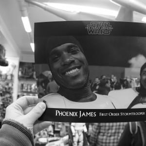 Phoenix James - Star Wars The Force Awakens First Order Stormtrooper Actors Autograph Signing in Paris France 1 Episode 7 8 9 VII VIII IX