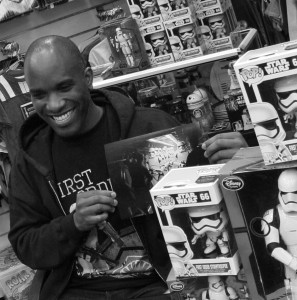 Phoenix James - Star Wars The Force Awakens First Order Stormtrooper Actors Autograph Signing in Paris France 2 Episode 7 8 9 VII VIII IX