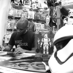 Phoenix James - Star Wars The Force Awakens First Order Stormtrooper Actor Autograph Signing in Paris France 4