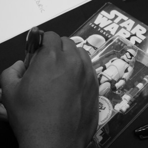Phoenix James - Star Wars The Force Awakens First Order Stormtrooper Actor Autograph Signing in Paris France 5