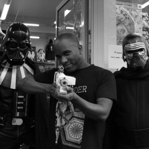 Phoenix James - Star Wars The Force Awakens First Order Stormtrooper Actors Autograph Signing in Paris France 6