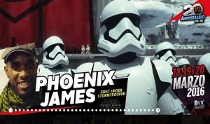 Phoenix James - Stormtrooper Actor - La Mole Comic Con - Mexico