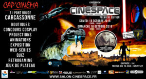Phoenix James will be guest appearing at the 1st edition of CineSpace on 15th-16th October at Cap'Cinéma in Carcassonne in southern France.