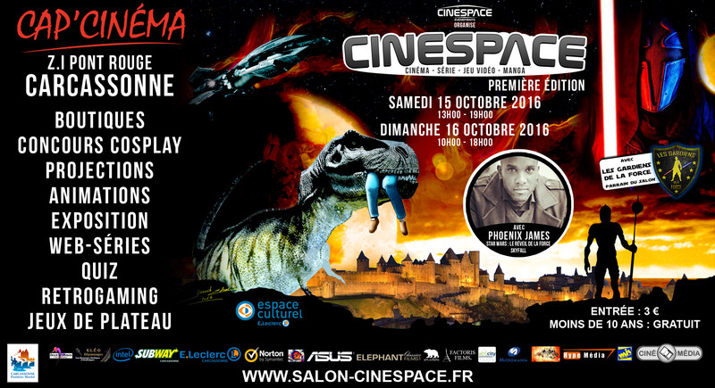 Phoenix James appearing at first edition of CineSpace in southern France