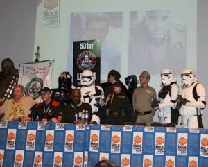 Phoenix James with the 501st Legion Mexican Garrison at La Mole Comic Con in Mexico City 2