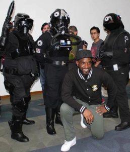 Phoenix James with the 501st Legion Mexican Garrison at La Mole Comic Con in Mexico City 4