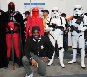 Phoenix James with the 501st Legion Mexican Garrison at La Mole Comic Con in Mexico City 5