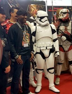 Role Play Convention 2016 - First Order Stormtrooper Actor - Phoenix James - Photo courtesy of Yvonne Thoma